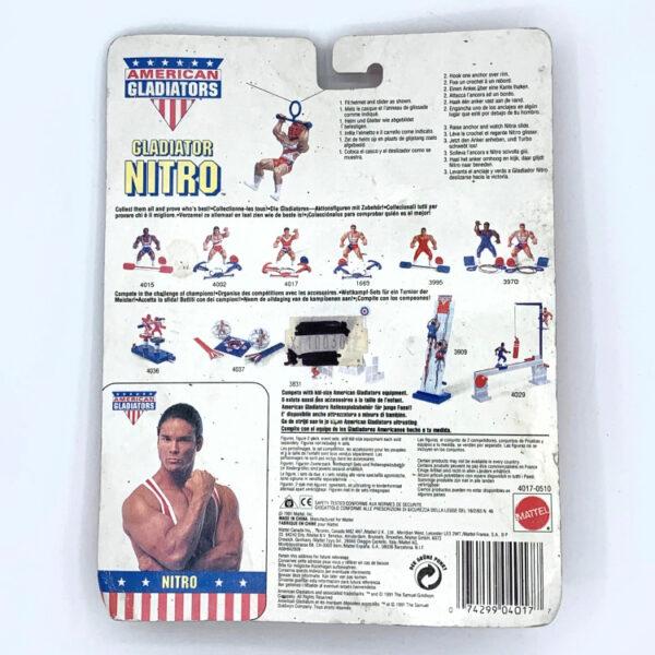 Nitro MOC - Actionfigur aus 1991 / American Gladiators hinten