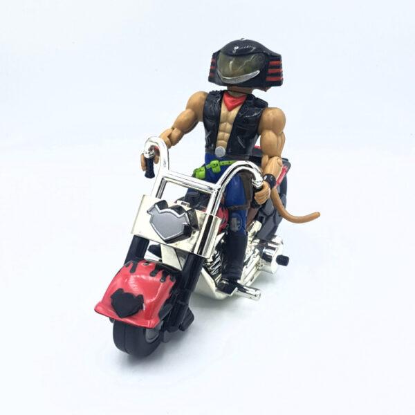 Throttle & Martian Monster Bike - Actionfigur aus 1993/94 von Galoob / Biker Mice from Mars vorne
