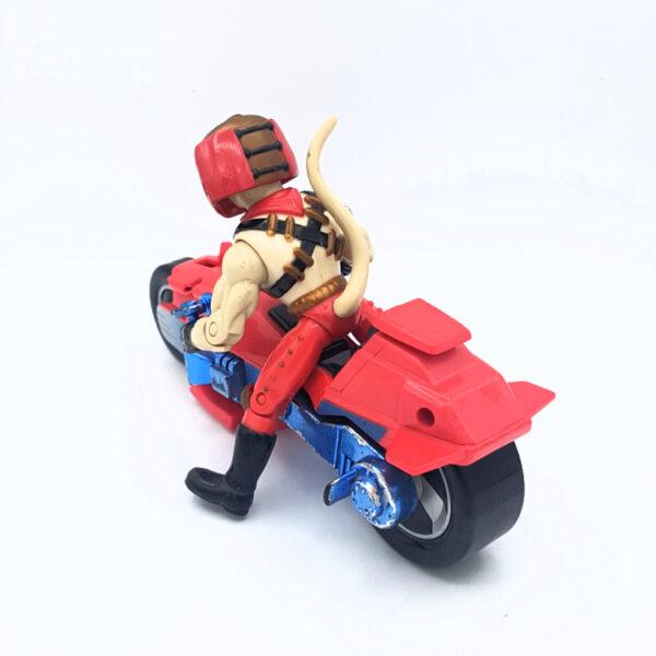 Vinnie & Bike - Actionfigur aus 1994 von Galoob / Biker Mice from Mars hinten