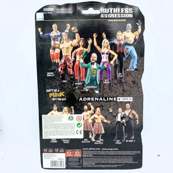 Beth Phoenix - Actionfigur aus 2008 von Jakks / WWE Ruthless Aggression hinten