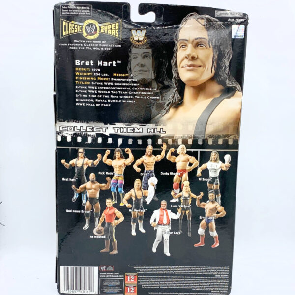Bret Hart - Actionfigur aus 2006 von Jakks / WWE Classic Superstars hinten