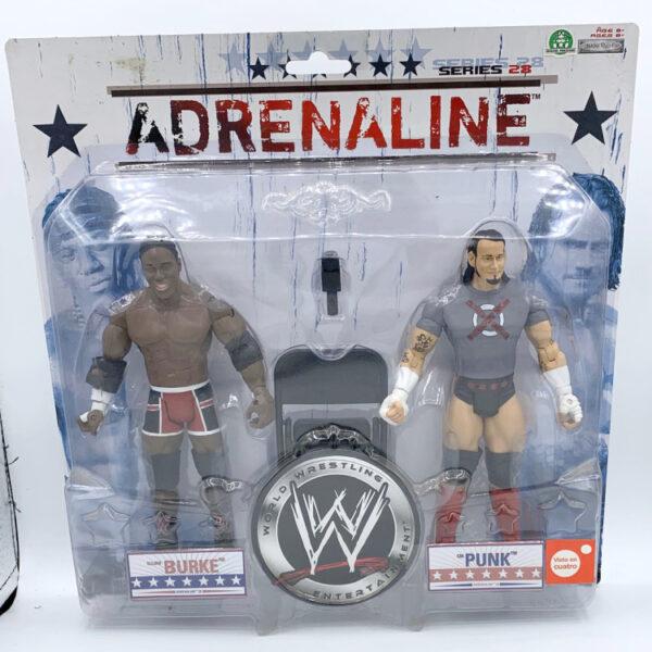 Elijah Burke / CM Punk - Actionfiguren aus 2007 von Jakks / WWE Adrenaline