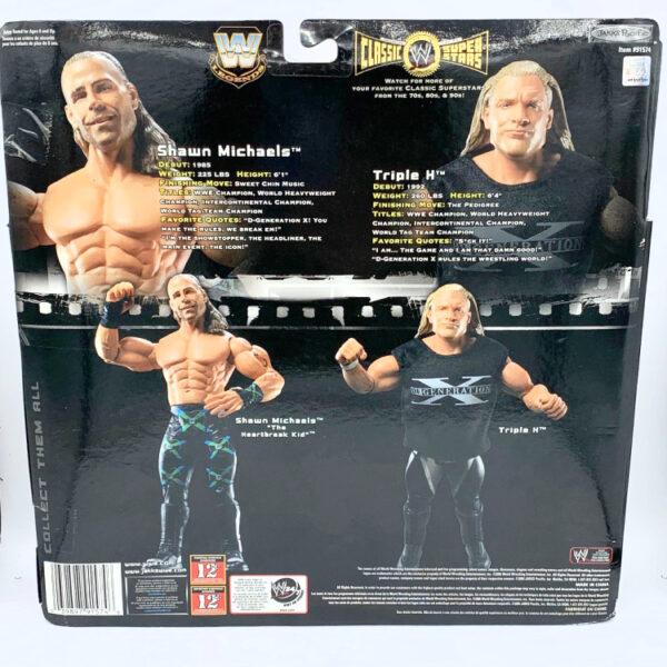 Shawn Michaels / Triple H - D Generation X Limited Edition - Actionfiguren aus 2006 von Jakks / WWE Classic Superstars hinten