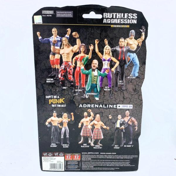 Edge - Actionfigur aus 2008 von Jakks / WWE Ruthless Aggression hinten