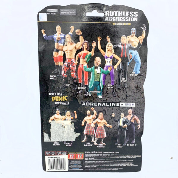 Hornswoggle - Actionfigur aus 2008 von Jakks / WWE Ruthless Aggression hinten