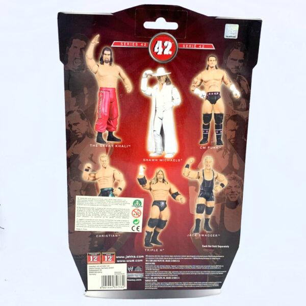Shawn Michaels - Actionfigur aus 2009 von Jakks / WWE Ruthless Aggression hinten