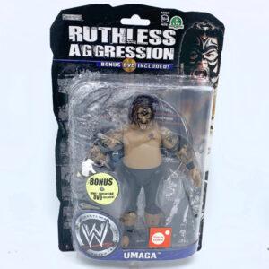 Umaga + DVD - Actionfigur aus 2008 von Jakks / WWE Ruthless Aggression