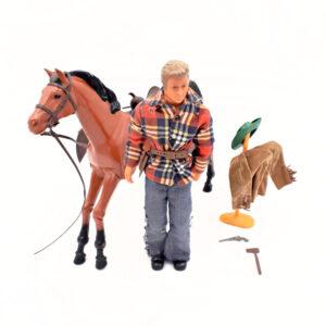 Big Jim - Pferd Hatatitla (Karl May) und Reiter inkl. Zubehör / Mattel 70er Jahre