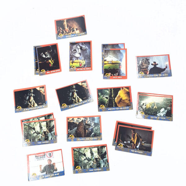 Sammelkarten Komplettset von Kenner Toys / Jurassic Park 90er Jahre
